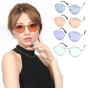 人気 メンズ ブランド 7JEWELRY ラウンド サングラス ライト グリーン ブラウン パープル スモーク レンズ 紫外線カット UVカット|diamonddust