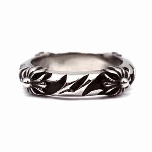 指輪 メンズ ユニセックス 7JEWELRY クロス スクロール リング 16号 高品質 ステンレス アレルギー対応|diamonddust
