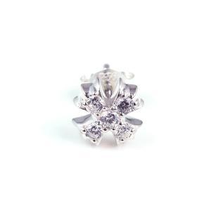 人気 ブランド blackdia クロス 5石 ジルコニア ピアス 片耳 シルバー 925|diamonddust
