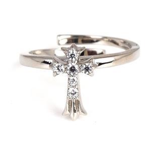 人気 ブランド blackdia 銀 6石 ジルコニア クロス リング|diamonddust
