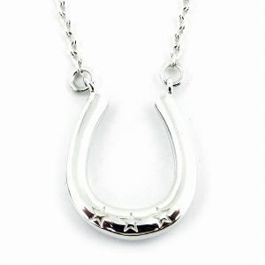 人気 メンズ レディース ブランド blackdia シルバー ホースシュー チェーン ネックレス シルバー 925 銀 馬蹄 星|diamonddust