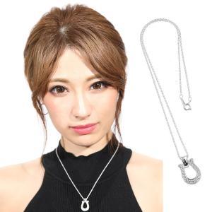 ネックレス メンズ レディース blackdia CZ ホースシュー ネックレス シルバー 925|diamonddust