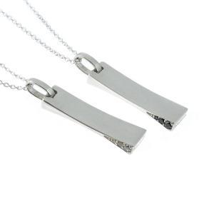 人気ブランドblackdia(ブラックダイヤ)サイドCZプレートネックレス。きれいめファッション、ス...