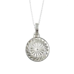 ネックレス メンズ レディース ブランド シルバー 925 シンプル blackdia スパイラル コイン ネックレス|diamonddust