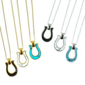 ネックレス メンズ レディース ブランド 馬蹄 シンプル おしゃれ blackdia 天然石 ホースシュー ネックレス|diamonddust