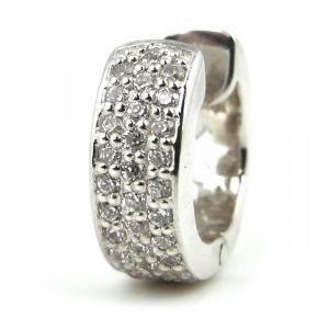 人気 メンズ レディース ブランド blackdia スター ホロウ CZ リング ピアス 片耳 シルバー 星 フープピアス|diamonddust