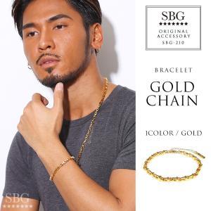ブレスレット メンズ レディース ブランド おしゃれ ゴールド 金 SBG チェーン ブレスレット|diamonddust