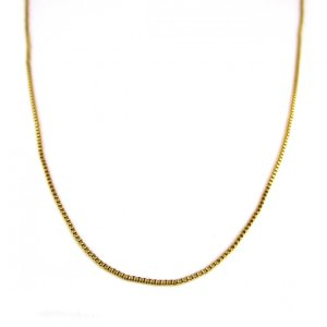 人気ブランドSBG(エスビージー)金ベネチアンチェーン60cm。 上質な真鍮を使用したオリジナルチェ...