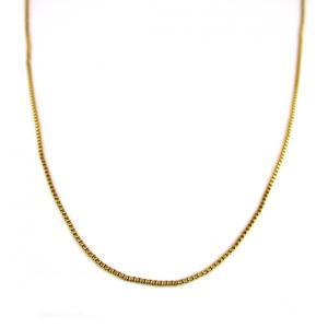 人気ブランドSBG(エスビージー)金ベネチアンチェーン50cm。 上質な真鍮を使用したオリジナルチェ...