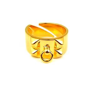 SBG K18金GP フープ付き スタッズ リング 指輪 ゴールド 人気 ブランド|diamonddust