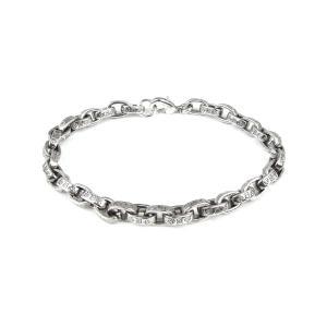 ブレスレット メンズ ブランド SBG ペーパーチェーン ロゴ ブレスレット|diamonddust