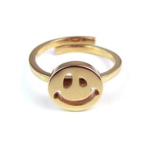 人気 メンズ レディース ブランド SBG ゴースト スマイル リング 指輪 フリーサイズ シルバー ゴールド 金 銀 指輪|diamonddust