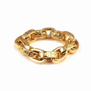 指輪 メンズ ブランド 金 ゴールド おしゃれ SBG 22K GP ペーパーチェーン ロゴ リング|diamonddust