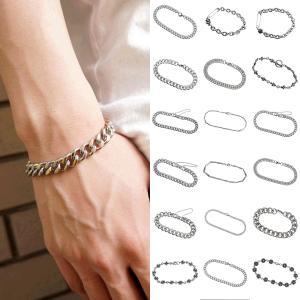 ブレスレット メンズ 韓国 ストリート ファッション ブランド クロス 喜平 安全ピン SBG ステンレス ブレスレット シルバー|diamonddust