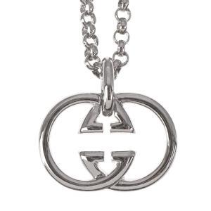 人気 メンズ レディース ブランド SBG シルバー ダブル ロゴ ネックレス 銀 ペンダント トップ
