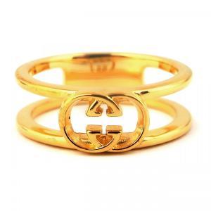 人気 メンズ レディース ブランド SBG 24K GP ゴールド ロゴ リング 金 指輪|diamonddust