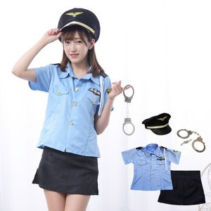 4点セット※帽子・手錠付き ハロウィン コスプレ ポリス  婦人警官 コスチューム 衣装|diamondhearts