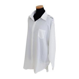 花柄レース刺繍シャツ シャツ ブラウス トップス レディース レース 刺繍 ゆったり 長袖 diamondhearts 17