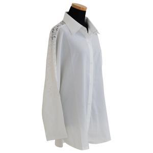 花柄レース刺繍シャツ シャツ ブラウス トップス レディース レース 刺繍 ゆったり 長袖 diamondhearts 18