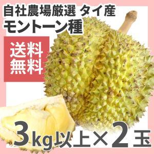 ドリアン モントーン種 タイ産 2玉 生鮮 約3kg