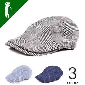 ハンチング メンズ 帽子 ゴルフ キャップ ゴルフウェア 春 夏 春夏 2017 新品 4CC-CAP161|diana