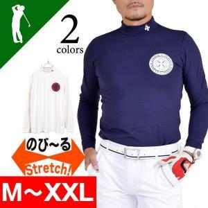 セール シャツ メンズ トップス インナー ストレッチ ゴルフウェア ゴルフ ストレッチ 長袖 モックネック  防寒 2016 4CC-MN1476|diana