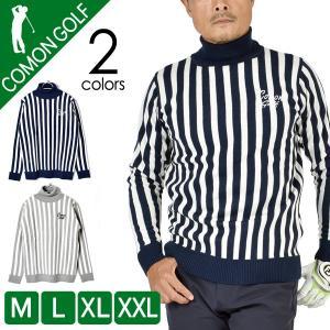 sale ゴルフウェア メンズ セーター タートルネック ニット ゴルフトップス ゴルフセーター ス...