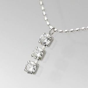 K18WGダイヤモンドスリーストーンPDN 0.30ct|diaw
