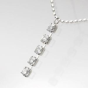 K18WGダイヤモンドファイブストーンPDN 0.30ct|diaw