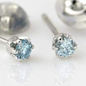 ダイヤモンド  輝き厳選保証  PTアイスブルーダイヤモンドピアス 0.10ct|diaw