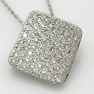 K18WGダイヤモンドペンダントネックレス|diaw