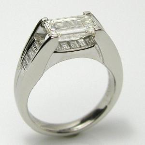 東京宝石科学アカデミー 鑑定書付PTダイヤモンドリング1.517ct  0.580ct   J-SI2|diaw