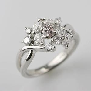 PTピンクダイヤモンドリング 0.193ct 0.75ct 鑑別書付|diaw