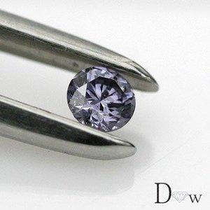 中央宝石研究所鑑定書付き 天然バイオレットダイヤ 0.141ctSI2-ファンシーディープブルーイッシュバイオレット|diaw