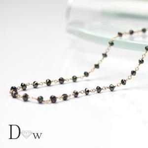良品質 K18PGブラックダイヤモンドネックレス 5ct最安値目指してます! ブラックダイヤモンド|diaw