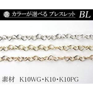 カラーが選べる K10デザインブレスレット2.0mmホワイトゴールド・ゴールド・ピンクゴールド18cm  日本製 diaw