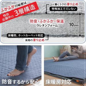 ラグ 下敷き 防音 ラグマット 厚手 カーペット  3畳用|dicedice|02