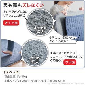 ラグ 下敷き 防音 ラグマット 厚手 カーペット  3畳用|dicedice|03