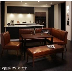 ダイニングテーブル 5点セット(テーブル+ソファ1脚+アームソファ1脚+チェア1脚+ベンチ1脚) 右アーム W150|dicedice