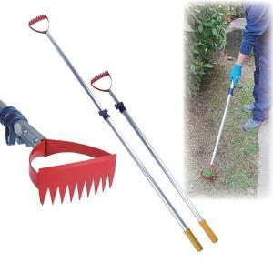 伸縮式草取り道具/雑草抜きごそっと「とれ太」ビッグ 〔のこ目/平刃付〕 アルミパイプ|dicedice