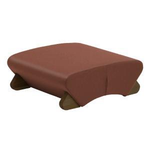 上質 デザイン座椅子 脚:ダーク ビニールレザー:ブラウン モナディー〕WAS-F 〔Mona.Dee ストア