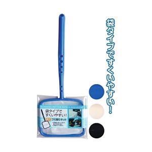 袋タイプですくいやすい  掃除用具 柄付ゴミ取りネット 〔12個セット〕 43-218