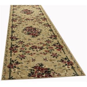 メーカー在庫限り品 永遠の定番 トルコ製 ラグマット 絨毯 〔80cm×700cm ベージュ〕 長方形 〔リビング 寝室〕〔代引不可〕 ダイニング ウィルトン ロゼ