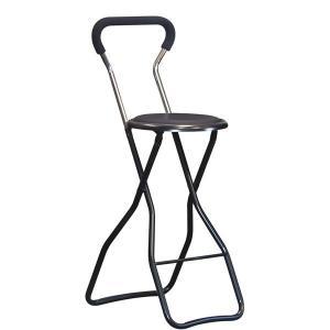 トレンド 折りたたみ椅子 〔4脚セット 超人気 ブラック×ブラック〕 スチールパイプ〔代引不可〕 日本製 幅35cm