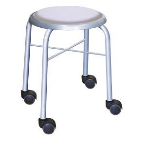 スタッキングチェア 丸椅子 〔同色4脚セット ホワイト×シルバー〕 スチールパイプ〔代引不可〕 日本製 贈呈 幅32cm 新作販売