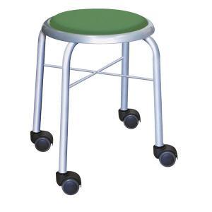 <title>スタッキングチェア 丸椅子 〔同色4脚セット グリーン×シルバー〕 幅32cm 日本製 スチールパイプ〔代引不可〕 ファッション通販</title>