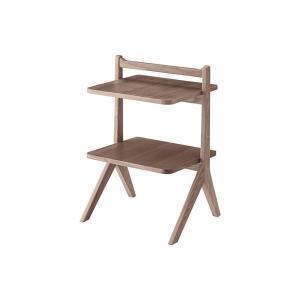 <title>サイドテーブル ミニテーブル 〔ブラウン〕 幅45cm 木製 送料無料(一部地域を除く) 棚板2枚 〔リビング ダイニング ベッドルーム 寝室〕</title>