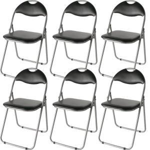 <title>折りたたみパイプ椅子 〔12脚入り 1セット〕 スチール 背もたれ付き 会議用椅子 ミーティングチェア 在庫一掃 IK-0102</title>
