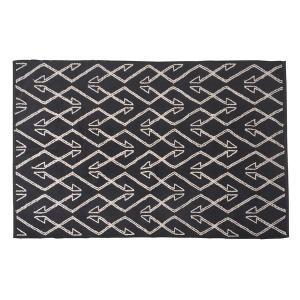 エスニック調 ラグマット 品質保証 絨毯 〔170×230cm TTR-171A〕 長方形 綿100% 収納袋付き 〔リビング セール価格 インド製 ダイニング〕