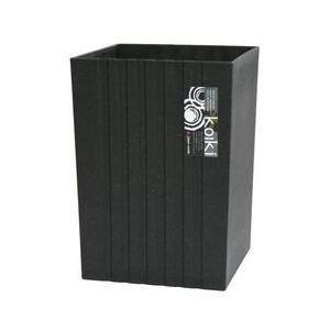 まとめ ゴミ箱 新作 大人気 ダストボックス 卸直営 〔角型 小 ブラック〕 4.5L 入り 〔24個セット〕 モダン 間伐材 コイキ 天然木